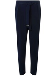 Dorothy Perkins Navy Metal Belted Joggers Blue