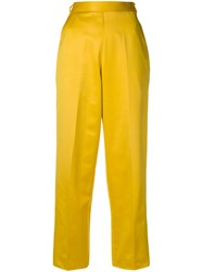 Yves Saint Laurent Vintage High Waisted Trousers Yellow And Orange