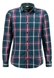 S.Oliver Slim Fit Shirt Pond Check Petrol