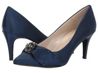 Caparros Orpheus Navy New Satin Shoes Blue
