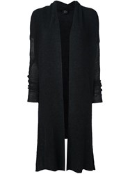 Lost And Found Ria Dunn Ribbed Cardigan Black