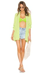 Solid And Striped Button Down In Green. Lime Gingham