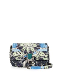Kara Ross Petra Python Mini Shoulder Bag Multi