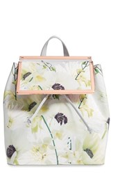 Ted Baker London 'Trinity' Floral Leather Backpack
