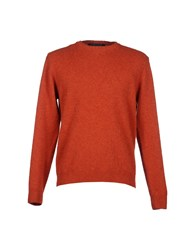 Private Lives Knitwear Jumpers Men Rust
