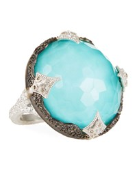 Armenta New World Scalloped Doublet Ring Silver