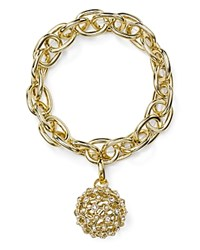 Rj Graziano Chain And Pave Ball Stretch Bracelet Gold