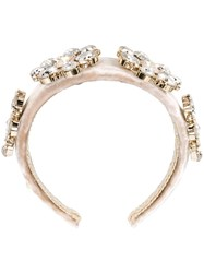Dolce And Gabbana Embellished Hair Band Nude And Neutrals