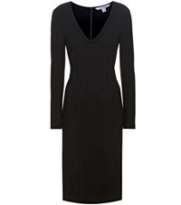 Diane Von Furstenberg Milena Stretch Crepe Dress Black