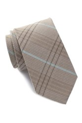 Ben Sherman Seasonal Plaid Tie Beige