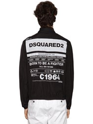 Dsquared Printed Nylon Taffeta Jacket Black