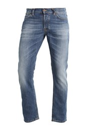 Nudie Jeans Dude Dan Straight Leg Highlights Blue Denim