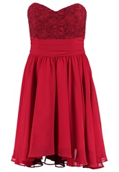 Swing Cocktail Dress Party Dress Braunrot Red
