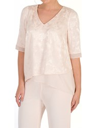 Chesca Leaf Jacquard Layered Tunic Blush