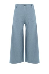 Seafarer Cotton Wide Leg Culottes Blue