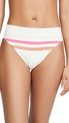 L Space Wilson Bikini Bottoms Cream Chestnut Bubblegum