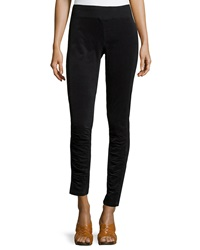 Xcvi Ruched Corduroy Leggings Black