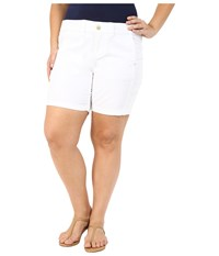 Jag Jeans Plus Size Somerset Relaxed Fit Shorts In Bay Twill White Women's Shorts