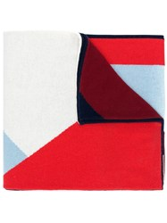 Chinti And Parker Geometric Patterned Scarf Blue