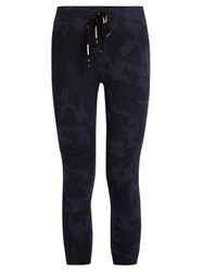 The Upside Seals Camo Print Cropped Performance Leggings Navy Print
