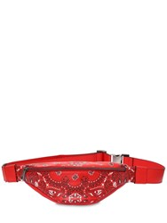 Htc Los Angeles Bandana Print Leather Belt Bag Red