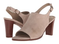 Walking Cradles Gwen Taupe Snake Nubuck Women's Sandals Gray