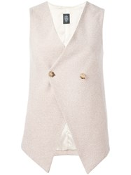 Eleventy Double Breasted Waistcoat Nude Neutrals