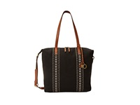 Lucky Brand Grenada Washed Linen Tote Black Tote Handbags