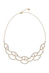 Carolee Stone Bib Necklace Yellow