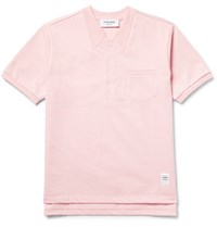 Thom Browne Embroidered Cotton Jersey T Shirt Pink