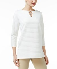 Jm Collection Ribbed Hardware Tunic Only At Macy's Winter White