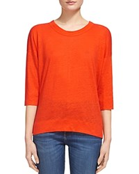 Whistles Laura Linen Tee Red