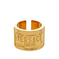 Versace Number Plate Ring Gold