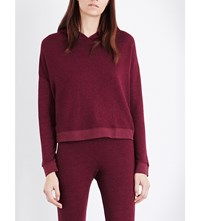 Sundry Cross Over Cotton Blend Hoody Merlot