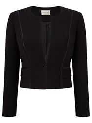 Precis Petite Rebecca Compact Cropped Jacket Black