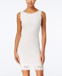 Jump Juniors' Lace Bodycon Dress Ivory