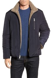 Marc New York Faux Shearling Reversible Quilted Jacket Navy