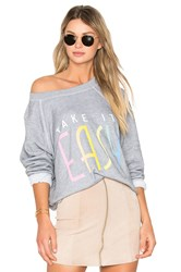 Wildfox Couture Take It Easy Top Gray
