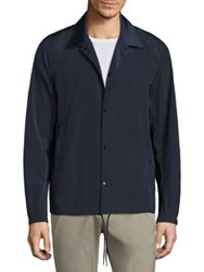 Theory Coaches Button Front Jacket Deep Blue