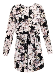 Rebecca Taylor Frost Flower Print Silk Dress