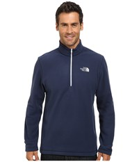 The North Face Tka 100 Glacier 1 4 Zip Cosmic Blue Tnf White Men's Long Sleeve Pullover