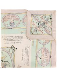 Hermes Vintage Les Amours Scarf Nude And Neutrals