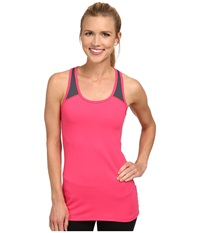 2Xu Essential Racer Tank Coral Paradise Charcoal Women's Workout Pink
