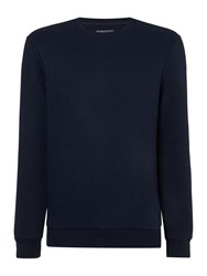 Linea Lane Textured Crew Neck Sweat Dark Navy