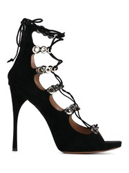 Alaia Lace Up Sandals Black