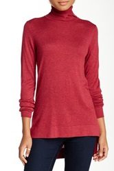 Cullen Hi Lo Turtleneck Sweater Red