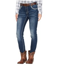 Rock And Roll Cowgirl Boyfriend Skinny In Dark Vintage W2s6683 Dark Vintage Jeans Navy