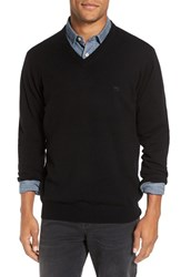 Rodd And Gunn Men's 'Inchbonnie' Wool Cashmere V Neck Sweater Onyx