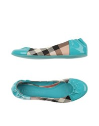 Burberry London Footwear Ballet Flats Women Turquoise