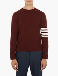 Thom Browne Maroon Cashmere Sweater